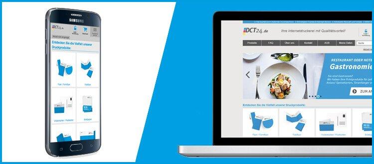 DCT24 Onlinedruckerei Responsive Design